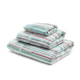 aqua Carolyn Donnelly Eclectic Striped Bath Towel