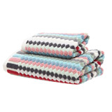 aquaCarolyn Donnelly Eclectic Popcorn Guest Towel