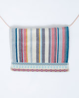 greyCarolyn Donnelly Eclectic Border Face Cloth