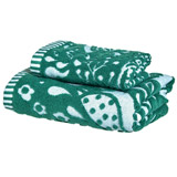 green Carolyn Donnelly Eclectic Bird Bloom Guest Towel