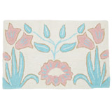 cream Carolyn Donnelly Eclectic Lurex Embroidered Bath Mat