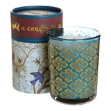 teal Carolyn Donnelly Eclectic Floral Boxed Candle