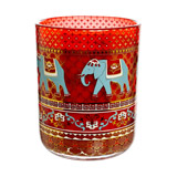 red Carolyn Donnelly Eclectic Elephant Print Candle