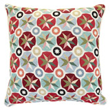 cream Carolyn Donnelly Eclectic Geo Starburst Cushion