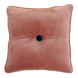 rose Carolyn Donnelly Eclectic Velvet Button Cushion