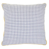 ochre Carolyn Donnelly Eclectic Houndstooth Cushion