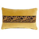 ochre Carolyn Donnelly Eclectic Rectangular Ribbon Cushion