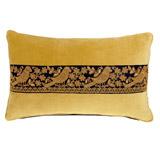 ochreCarolyn Donnelly Eclectic Rectangular Ribbon Cushion