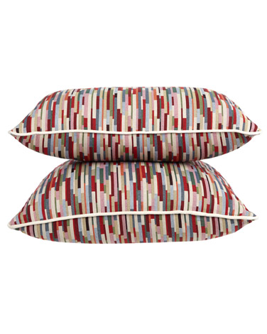 Carolyn Donnelly Eclectic Geo Stripe Cushion