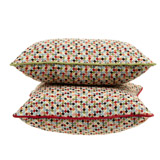 green Carolyn Donnelly Eclectic Geo Multi Spot Cushion