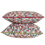red Carolyn Donnelly Eclectic Geo Arrow Cushion