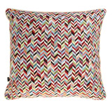 multi Carolyn Donnelly Eclectic Geo Chevron Cushion