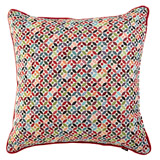red Carolyn Donnelly Eclectic Geo Circle Cushion