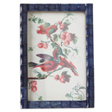 blue Carolyn Donnelly Eclectic Bamboo Tile Frame