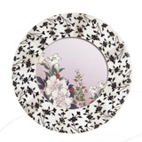 black Carolyn Donnelly Eclectic Round Floral Frame
