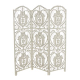 cream Carolyn Donnelly Eclectic Java Rattan Three Panel Screen