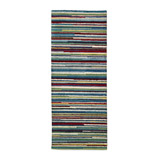 green Carolyn Donnelly Eclectic Stripe Wool Rug