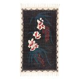 black Carolyn Donnelly Eclectic Stonewash Bloom Rug