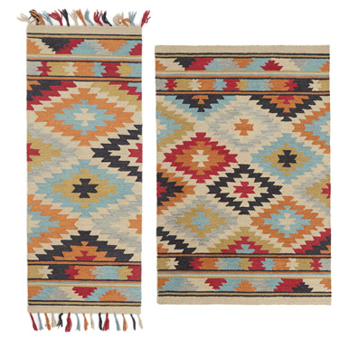 multi Carolyn Donnelly Eclectic Inca Diamond Rug