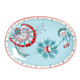 light-blue Carolyn Donnelly Eclectic Paisley Serving Platter