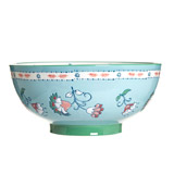 light-blue Carolyn Donnelly Eclectic Paisley Serving Bowl