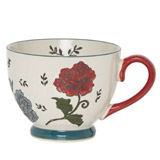 navy Carolyn Donnelly Eclectic Floral Footed Mug