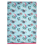 multi Carolyn Donnelly Eclectic Gingham Bloom Tea Towel