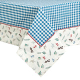 blue Carolyn Donnelly Eclectic Chicken Woven Tablecloth
