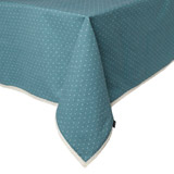 green Carolyn Donnelly Eclectic Polka Dot Tablecloth