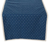 blue Carolyn Donnelly Eclectic Polka Dot Table Runner