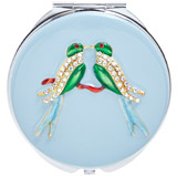 aqua Carolyn Donnelly Eclectic Compact Mirror