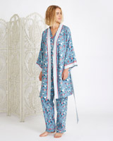 blue Carolyn Donnelly Eclectic Tokyo Boxed Kimono