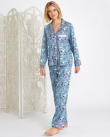 blue Carolyn Donnelly Eclectic Tokyo Boxed Pyjama Set
