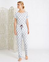 creamCarolyn Donnelly Ecletic Myra Jersey Lounge Pants