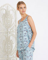 blue Carolyn Donnelly Eclectic Arya Print Vest