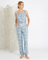 blue Carolyn Donnelly Eclectic Arya Cuffed Pants