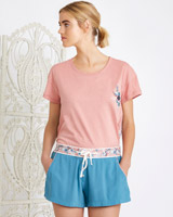 blue Carolyn Donnelly Eclectic Arya Viscose Twill Shorts