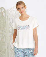 cream Carolyn Donnelly Eclectic Arya T-Shirt