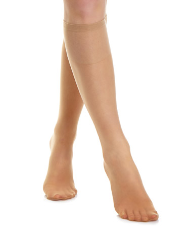 cbd3a3c60c4 natural-tan 10 Denier Sandal Toe Knee Highs - Pack ...