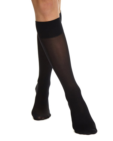 0f100e7c238 black 20 Denier Medium Support Knee Highs - 2 Pack