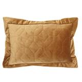 goldPaul Costelloe Living Velvet Quilted Boudoir Cushion