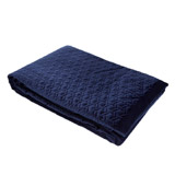 navy Paul Costelloe Living Paris Quilted Throw