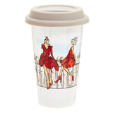 red Paul Costelloe Living Lady Travel Mug