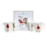 assorted Paul Costelloe Living Lady Mug Set