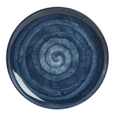 navy Paul Costelloe Living Spinwash Dinner Plate