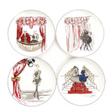navy Paul Costelloe Living Lady Side Plate Set