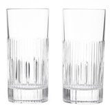 clear Paul Costelloe Living Crystal Hi-Balls - Set Of 2