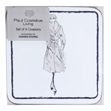 grey Paul Costelloe Living Lady Coaster - Pack Of 4