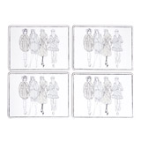 grey Paul Costelloe Living Lady Placemat - Pack Of 4