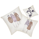 greyPaul Costelloe Living Silk Lady Cushion